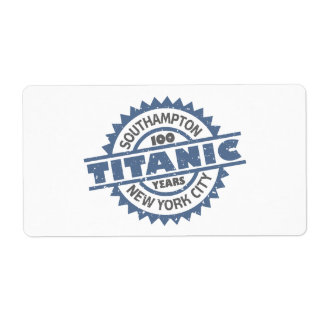 Titanic Sinking 100 Year Anniversary Custom Shipping Label