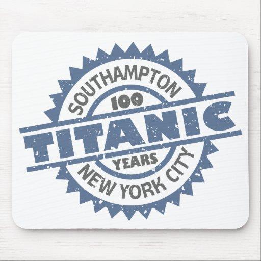 Titanic Sinking 100 Year Anniversary Mousepads