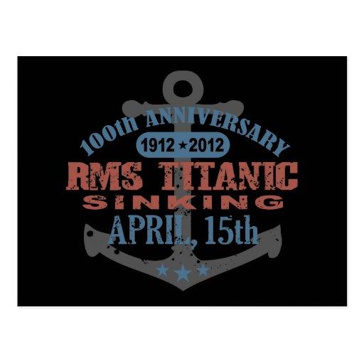 Titanic Sinking 100 Year Anniversary Post Card
