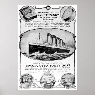 Titanic Soap Vintage Poster
