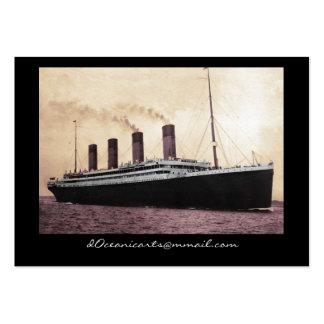Titanic sur son premier voyage carte de visite grand format