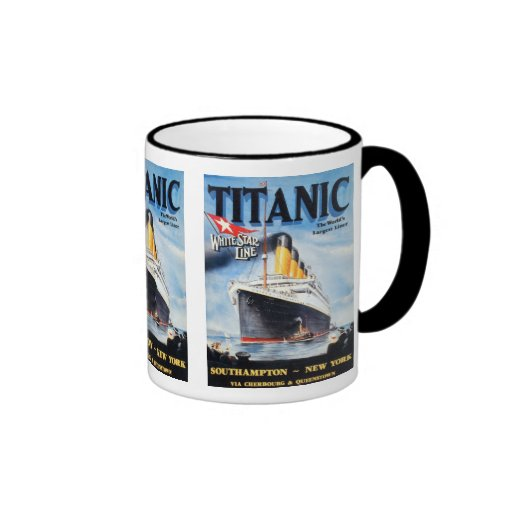 Titanic White Star Line Poster Coffee Mugs