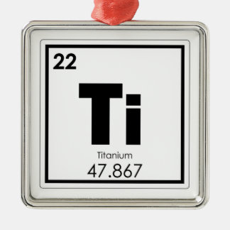 Titanium chemical element symbol chemistry formula metal ornament