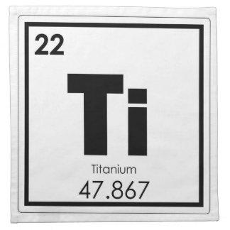 Titanium chemical element symbol chemistry formula napkin
