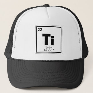 Titanium chemical element symbol chemistry formula trucker hat