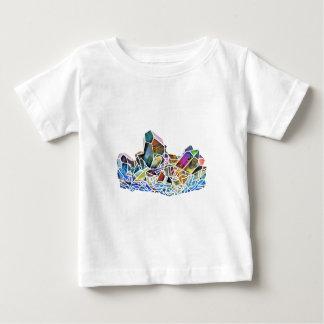 Titanium Quartz Healing Crystal Art Rainbow Aura Baby T-Shirt