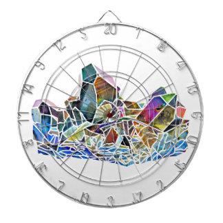 Titanium Quartz Healing Crystal Art Rainbow Aura Dart Board