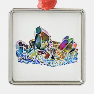 Titanium Quartz Healing Crystal Art Rainbow Aura Metal Ornament