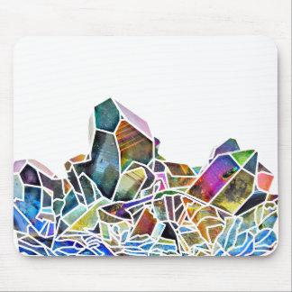 Titanium Quartz Healing Crystal Art Rainbow Aura Mouse Pad