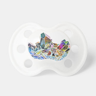 Titanium Quartz Healing Crystal Art Rainbow Aura Pacifier
