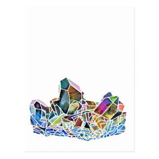 Titanium Quartz Healing Crystal Art Rainbow Aura Postcard