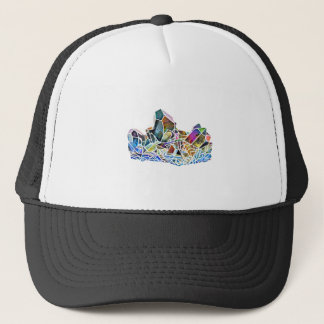 Titanium Quartz Healing Crystal Art Rainbow Aura Trucker Hat