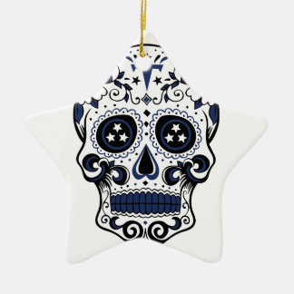 Titans Sugar Skull Ceramic Star Ornament