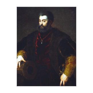 Titian Alfonso d'Este, Duke of Ferrara Canvas Print