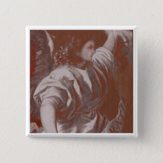 Titian Annunciation Angel with Banner 2 Inch Square Button