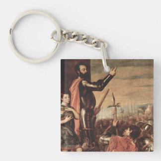 titian art Single-Sided square acrylic keychain