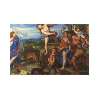 Titian Bacchus Painting Canvas Print