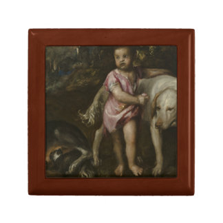 Titian - Boy with Dogs in a Landscape Gift Boxes