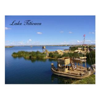 titicaca boats postcard