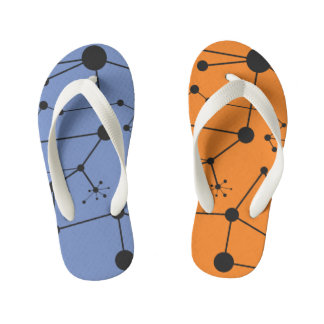 Titik Garis One - Flip Flops, Kids Dual color Kid's Flip Flops