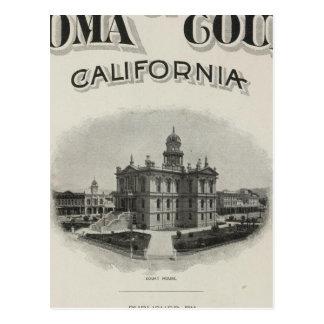 Title Page Atlas Sonoma County, California Postcard