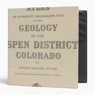 Title Page Atlas to the Geology 3 Ring Binders