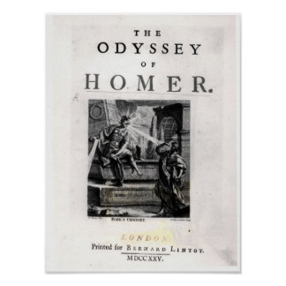 Title page for 'The Odyssey' by Homer Poster