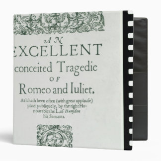 Title Page from 'Romeo and Juliet' 3 Ring Binders