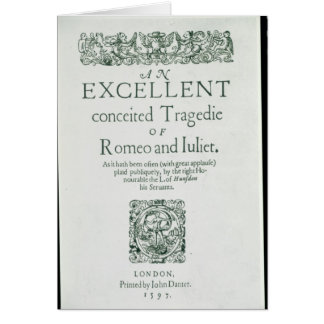 Title Page from 'Romeo and Juliet' Card