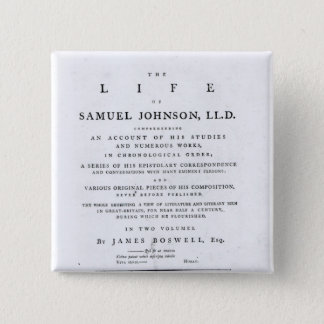 Title page, from 'The Life of Samuel Johnson' 2 Inch Square Button