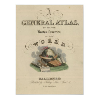 Title Page General Atlas of the World Poster