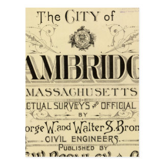 Title Page of Cambridge Atlas Postcard