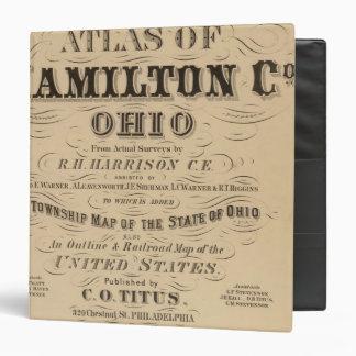 Title Page of Hamilton County Atlas Vinyl Binder