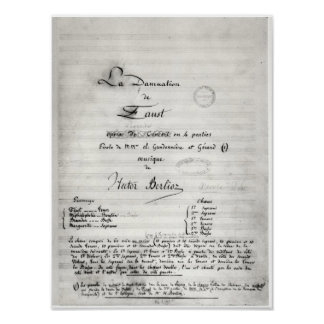 Title page of 'La Damnation de Faust' Poster