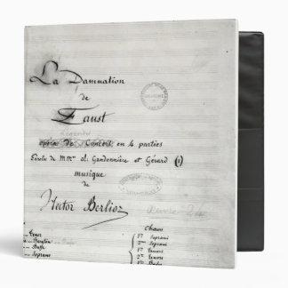 Title page of 'La Damnation de Faust' Vinyl Binders