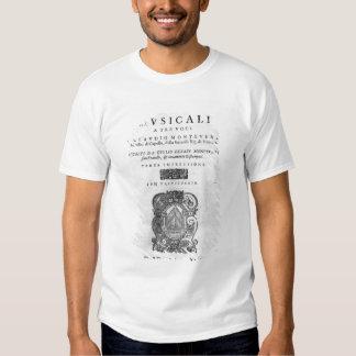 Title page of the 'Scherzi Musicali' T-shirt