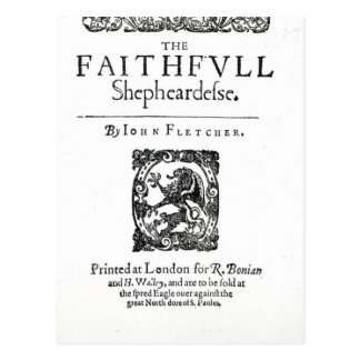 Title Page to 'The Faithfull Shepherdess' Postcard