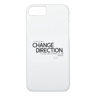 Title: QUOTES: Lao Tzu: Change direction iPhone 8/7 Case