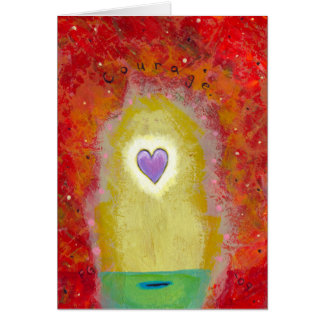 Title: Tiny Art #596 Purple heart courage PERSONAL Card