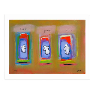 Titled:  Dance of life  -  fun colorful ghosts Postcard