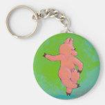 Titled:  Elusive Irish Dancing Pig Key Chain