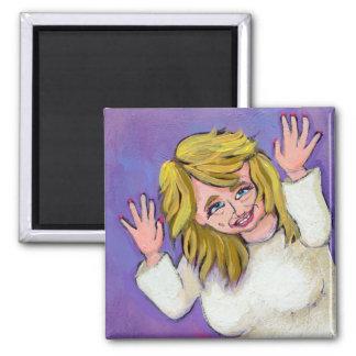 Titled:  Goddess of Crazy - fun mental ART Magnet