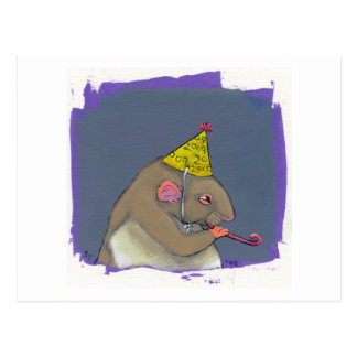 Titled:  Happy 2009 - fun New Years art Postcard
