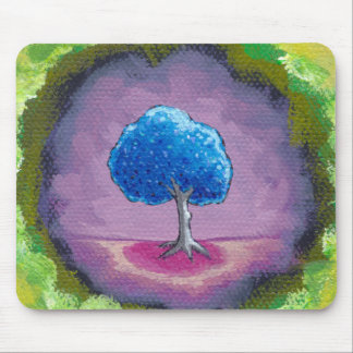 Titled:  In My World - A special place pretty tree Mouse Pad