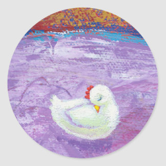 Titled:  Please Let Sleeping Chickens Lie Classic Round Sticker