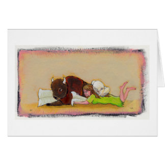 Titled:  Reading Together - Buffalo and fairy Card