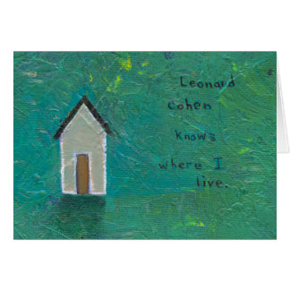 Titled:  The Land of Plenty (Leonard Cohen) Card