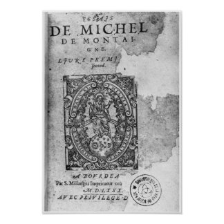 Titlepage of the first edition of 'Essais' Poster