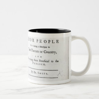 Titlepage to 'A Modest Proposal' Two-Tone Coffee Mug