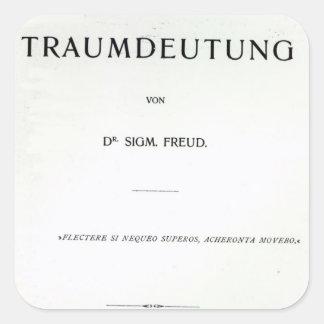 Titlepage to Die Traumdeutung by Sigmund Freud Square Sticker